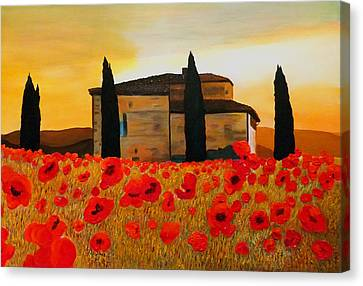 Tuscan Sunset Canvas Print