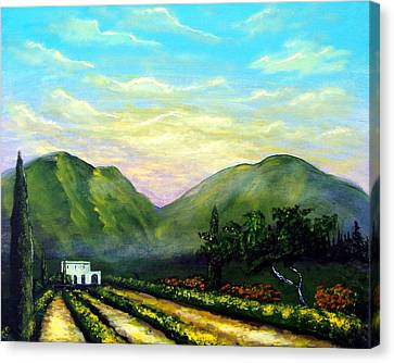 Canvas Print featuring the painting Tuscany Light by Larry Cirigliano