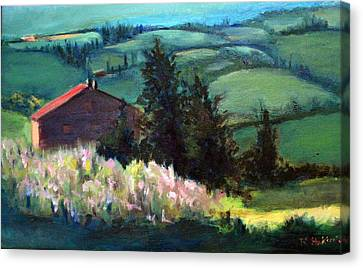 Tuscany Canvas Print by Rosemarie Hakim