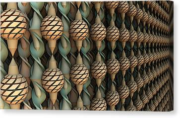 Twice Twisted Canvas Print by Hal Tenny