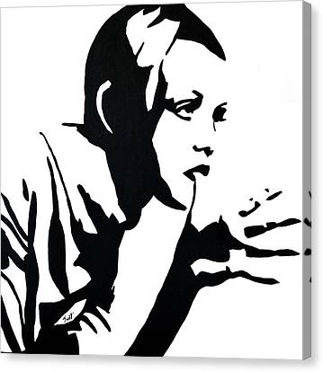 Twiggy Canvas Print by Jett Vivere