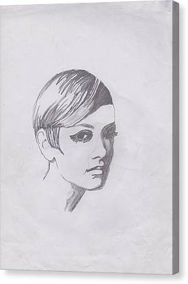 Twiggy Canvas Print by Marie Hough