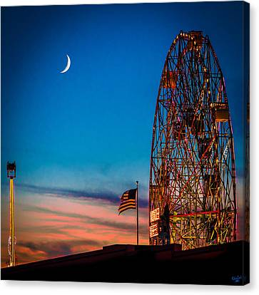 Twilight At Coney Island Canvas Print