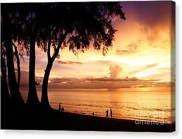 Twilight At Maikao Beach Phuket  Canvas Print