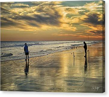 Twilight Fishing Canvas Print by Phill Doherty