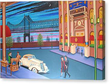 Twilight In New York Canvas Print by Tracy Dennison