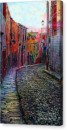 Twilight In San Miguel De Allende Canvas Print by John  Kolenberg