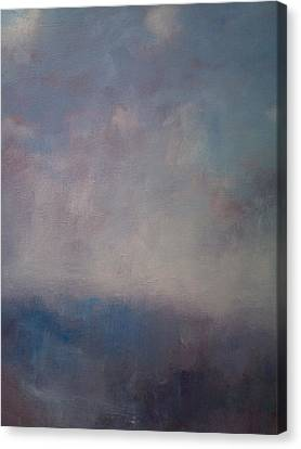 Twilight Mist Over The Arreton Valley Canvas Print by Alan Daysh