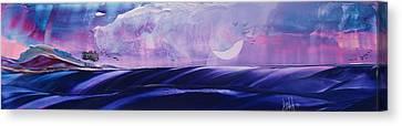 Twilight Moon Rise Canvas Print by Danita Cole