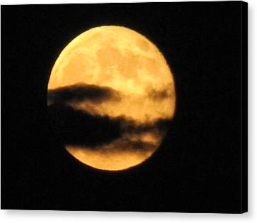 Canvas Print featuring the photograph Twilight Moon by Shawn Hughes