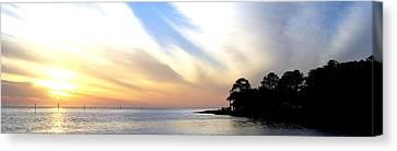 Twilight On The Gulf Canvas Print by Judy Hall-Folde