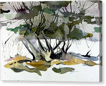Twilight Tree Canvas Print by Mindy Newman