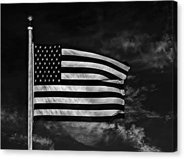 Twilight's Last Gleaming Bw Canvas Print by David Dehner