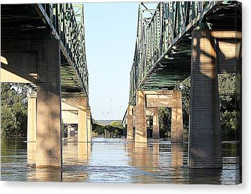 Canvas Print featuring the photograph Twin Bridges by Elizabeth Winter