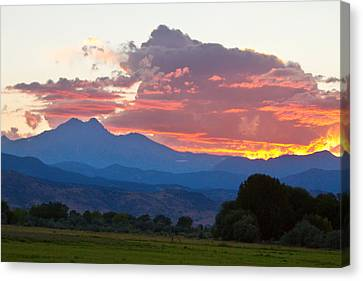 Twin Peaks Longs Meeker August Sunset 1 Canvas Print by James BO  Insogna
