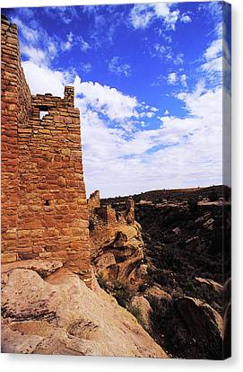 Twin Towers At Cliffs Edge Canvas Print