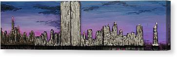 Twin Towers At Sunset Canvas Print by Robert Handler