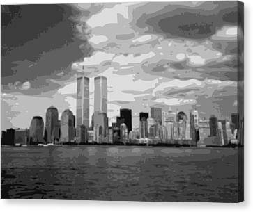 Twin Towers Bw10 Canvas Print