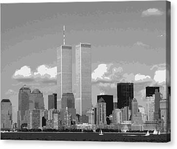 Twin Towers Bw12 Canvas Print