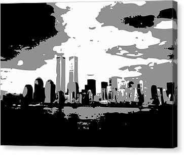 Twin Towers Bw3 Canvas Print