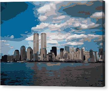 Twin Towers Color 16 Canvas Print