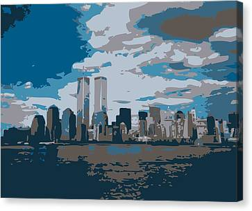 Twin Towers Color 7 Canvas Print