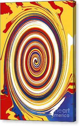 Canvas Print featuring the digital art Twirl 1 by Bill Thomson