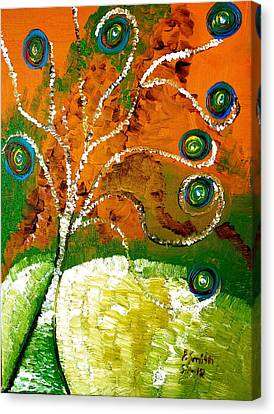 Twirl Pop Tree Canvas Print by Pretchill Smith
