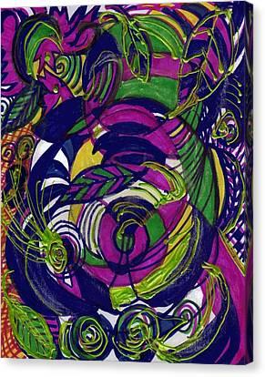 Twirls And Swirls Canvas Print by Anne-Elizabeth Whiteway