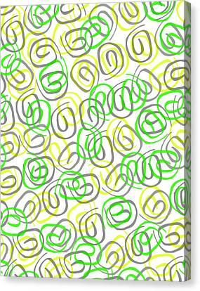 Twirls Canvas Print by Louisa Knight