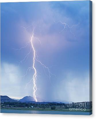 Twisted Lightning Strike Colorado Rocky Mountains Canvas Print by James BO  Insogna