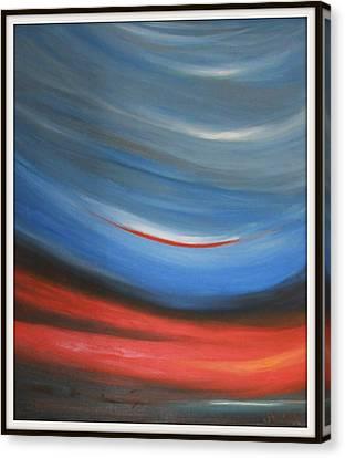 Twisting Sunset Canvas Print by Joanna Georghadjis