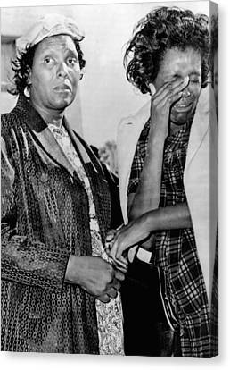 Two African American Women Stand Canvas Print by Everett