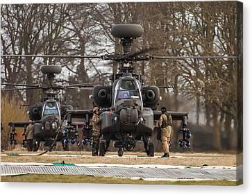 Two Ah64 Apaches Canvas Print