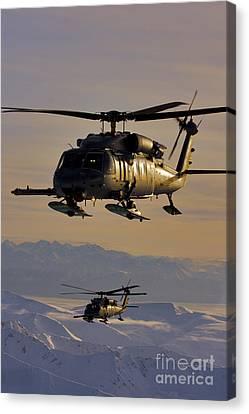 Two Alaska Air National Guard Hh-60g Canvas Print by Stocktrek Images