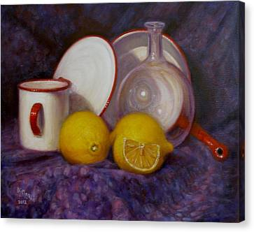 Two And A Half Lemons Canvas Print by Donelli  DiMaria