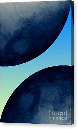 Two Blue Canvas Print