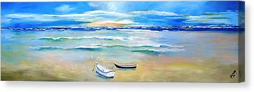 Two Boats Ashore  Canvas Print by Gary Smith