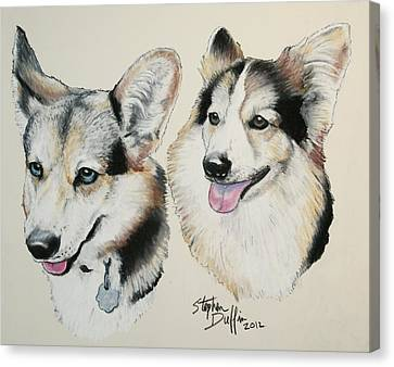 Two Corgies Canvas Print