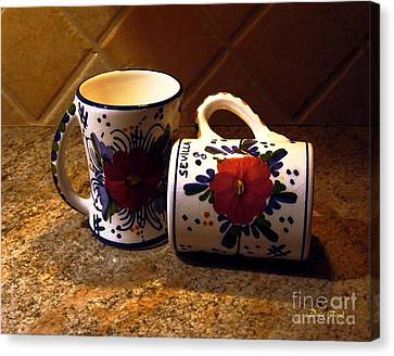 Two Cups Canvas Print by Dale   Ford