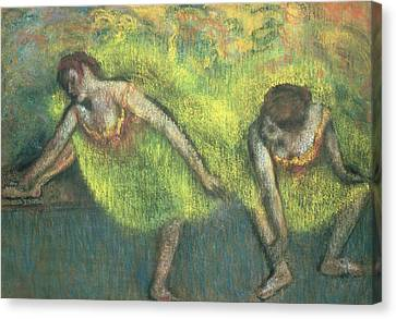 Two Dancers Relaxing Canvas Print by Edgar Degas
