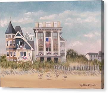 Two Different Houses On The Beach Canvas Print