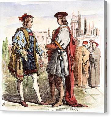 Two Gentlemen Of Verona Canvas Print by Granger
