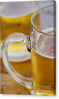 Two Glasses Of Beer Canvas Print