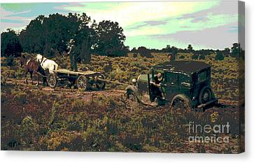 Two Horse Power Auto Canvas Print by Padre Art