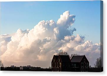 Two Houses One Cloud Canvas Print by Semmick Photo