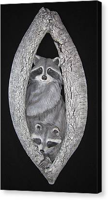 Two In A Tree Canvas Print by Janet Knocke
