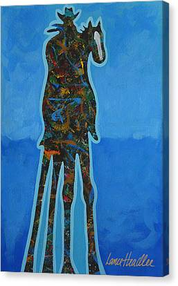 Two In Blue Canvas Print by Lance Headlee