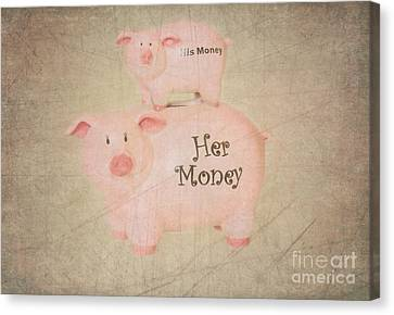 Two Little Piggies Canvas Print by Betty LaRue