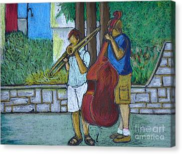 Two Musicians Canvas Print by Reb Frost